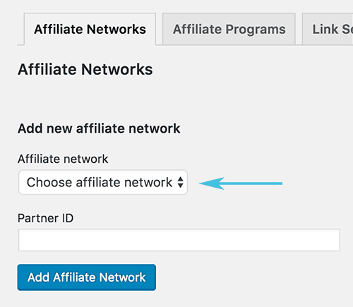 Setup Affiliate Network Manually - support