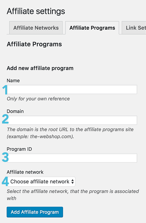 Setup Affiliate Program in CommissionHarvest